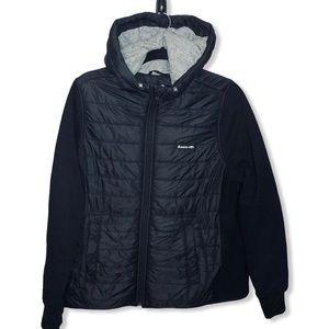 ROOTS Puffer Jacket Coat black Sz XL